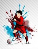 De vector van het voetbal Royalty-vrije Stock Foto's