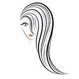 De Vector van het vrouwengezicht stock illustratie