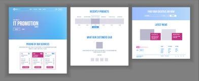 De Vector van het websitemalplaatje Pagina Bedrijfsproject Het winkelen Online Landende Web-pagina Manager Meeting Collectief con vector illustratie