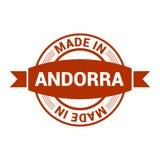 De vector van het de zegelontwerp van Andorra vector illustratie