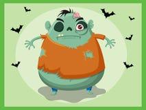 De vector van het zombiebeeldverhaal Stock Foto