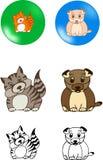 De vector van huisdieren Royalty-vrije Stock Afbeeldingen