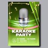 De Vector van de karaokeaffiche Uitstekende Karaokestudio Muzikaal verslag Uitzendingsvoorwerp Communicatie Stijl Abstract malpla vector illustratie