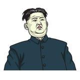 De Vector van Kim Jong-un Caricature Headshot Portrait 25 mei, 2017 Stock Foto
