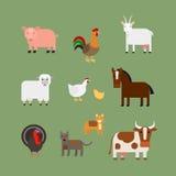 De vector van landbouwbedrijfdieren Stock Foto's