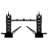 De vector van Londen van de torenbrug Royalty-vrije Stock Afbeeldingen