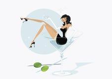 De vector van martini girly Royalty-vrije Stock Afbeelding