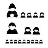 De vector van mensensilhouetten shaps Royalty-vrije Stock Afbeelding