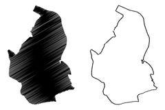 De vector van de Nevsehirkaart vector illustratie