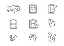De vector van quizpictogrammen stock illustratie