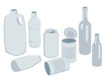 De Vector van Recyclables Stock Afbeelding