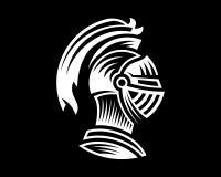 De vector van ridderhelm, zou gebruik kunnen zijn als embleempictogram of avatar Royalty-vrije Stock Afbeeldingen