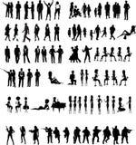 De Vector van silhouettenmensen Royalty-vrije Stock Afbeelding