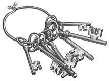 De vector van sleutels Stock Afbeelding
