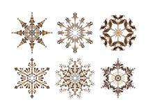 De vector van sneeuwvlokken Royalty-vrije Stock Foto