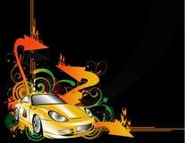 De vector van sportwagens Stock Afbeelding