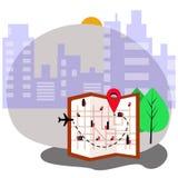 De vector van de stadskaart vector illustratie