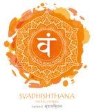De vector van Svadhishthanachakra royalty-vrije illustratie