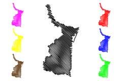 De vector van de Tamaulipaskaart royalty-vrije illustratie