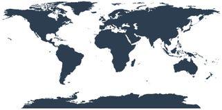 De vector van de wereldkaart, op witte achtergrond wordt geïsoleerd die De politieke kaart van de Wereld vector illustratie
