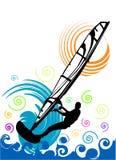 De vector van Windsurfing Stock Afbeelding