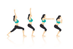 De Vector van yogaacties royalty-vrije illustratie