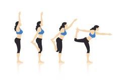 De Vector van yogaacties stock illustratie
