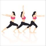 De Vector van yogaacties vector illustratie
