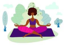 De Vector van yogameisjes royalty-vrije illustratie