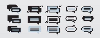 De vector Vastgestelde Elementen van de praatjebel voor ontwerp Stock Foto