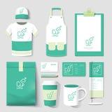 De vector vastgestelde vlieger van de restaurantkoffie, menu, pakket, t-shirt, GLB, u Royalty-vrije Stock Afbeelding
