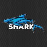 De vector Vectorillustratie van het haaiembleem stock afbeelding