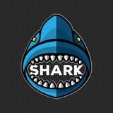 De vector Vectorillustratie van het haaiembleem stock fotografie