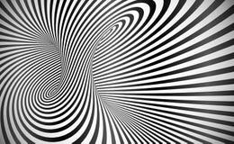 De vector verdraaide abstracte achtergrond van de strepenoptische illusie royalty-vrije illustratie