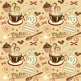 De vector Verse Hete Koffie van de Patroonkoffie Stock Foto