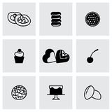 De vector Verse reeks van het bakkerijpictogram Stock Fotografie