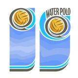De vector verticale banners van het Waterpolo voor tekst Stock Afbeelding