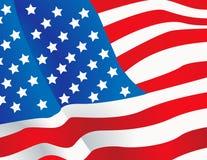 De vector vlag van illustratieVerenigde Staten Royalty-vrije Stock Afbeelding