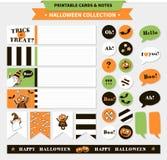 De vector voor het drukken geschikte reeks van Halloween Royalty-vrije Stock Foto's