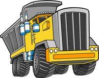 De vector Vrachtwagen van de Stortplaats Stock Foto