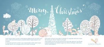 De vector Vrolijke Achtergrond van Kerstmis Royalty-vrije Stock Foto's