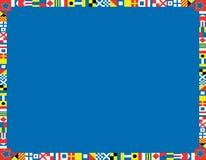 De vector ZeevaartGrens van de Vlag Royalty-vrije Stock Afbeelding