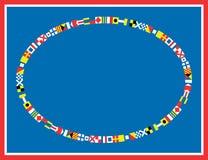 De vector ZeevaartGrens van de Vlag Royalty-vrije Stock Foto's