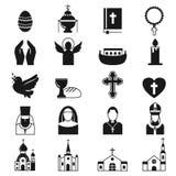 De vector zwarte reeks van het godsdienstpictogram stock illustratie