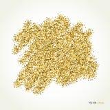 De vectorachtergrond met goud schittert Stock Fotografie