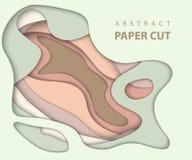 De vectorachtergrond met naakt pastelkleurdocument sneed vormen stock illustratie
