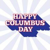 De vectorachtergrond van Columbus Day Het patriottische malplaatje van de V.S. met tekst voor affiches, decoratie in kleuren van  Royalty-vrije Illustratie