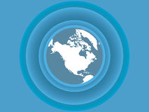 De vectorachtergrond van de aarde stock illustratie