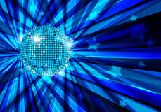 De vectorachtergrond van de Bal van de disco/eps10 Stock Afbeelding