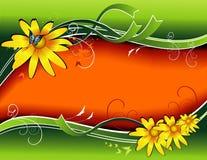 De vectorachtergrond van de bloem Stock Foto's